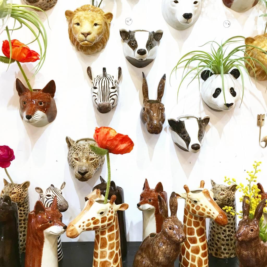 Ceramic leopard vase