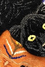 Zwarte panter vloerkleed van Doing Goods