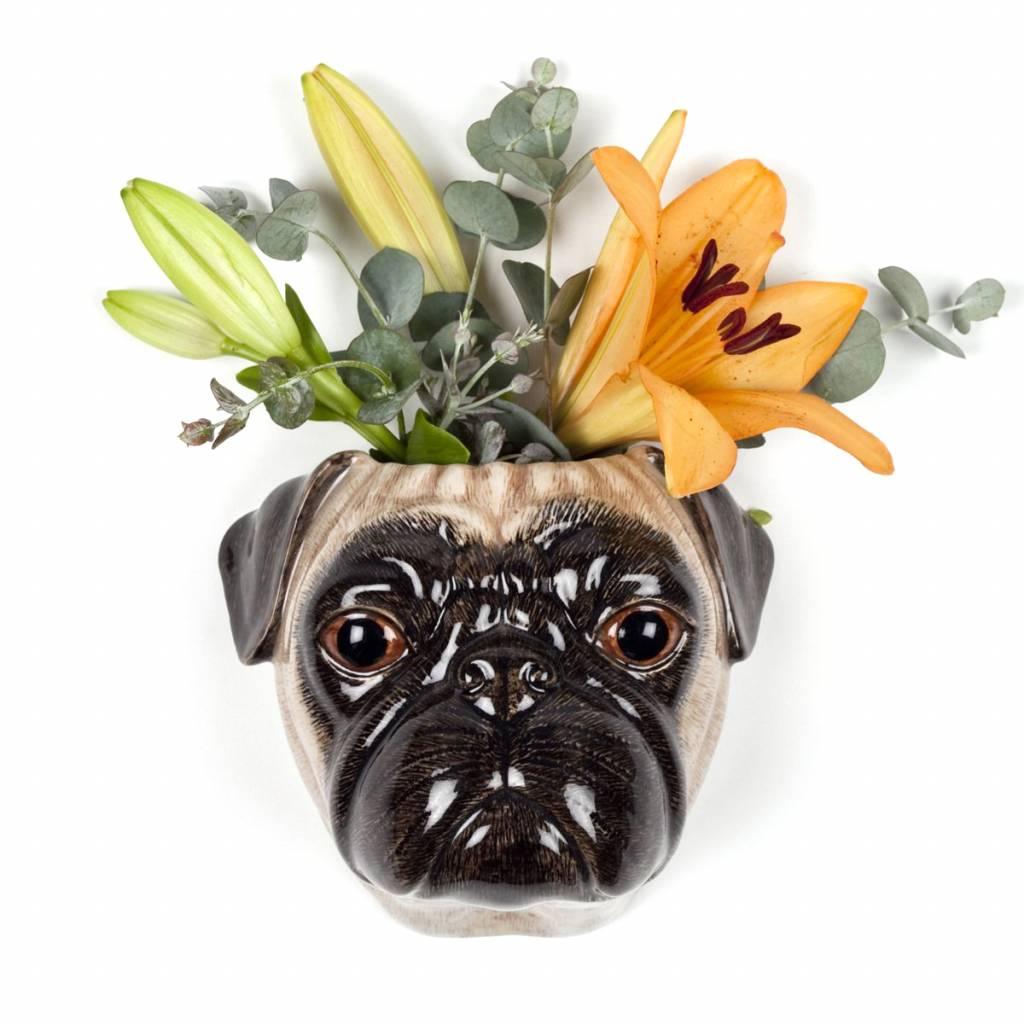 Wall Vase / Pug Fawn