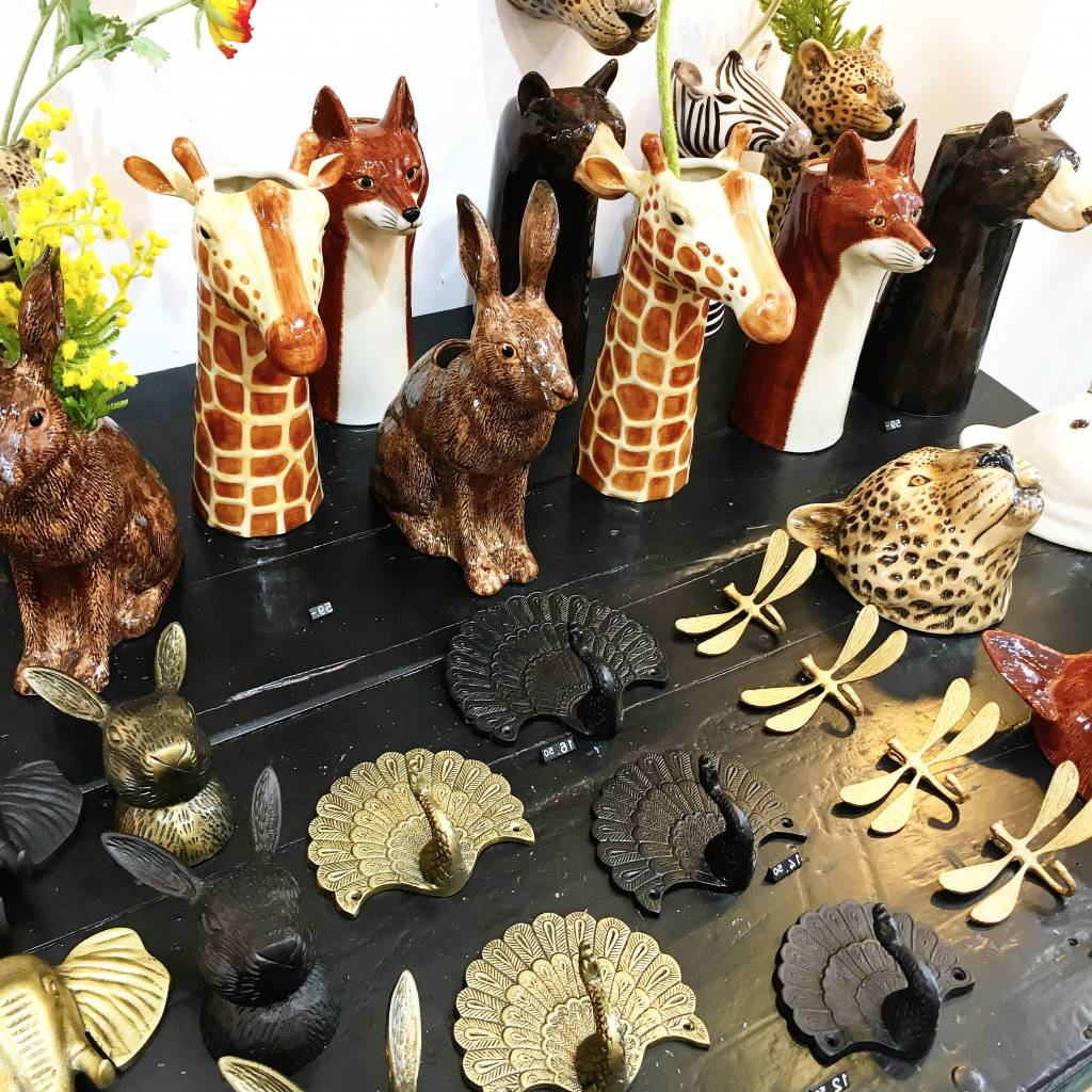 Ceramic elephant flower vase