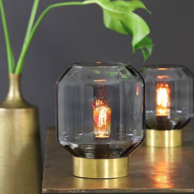 Glazen tafellamp / Oscar / L / Helder