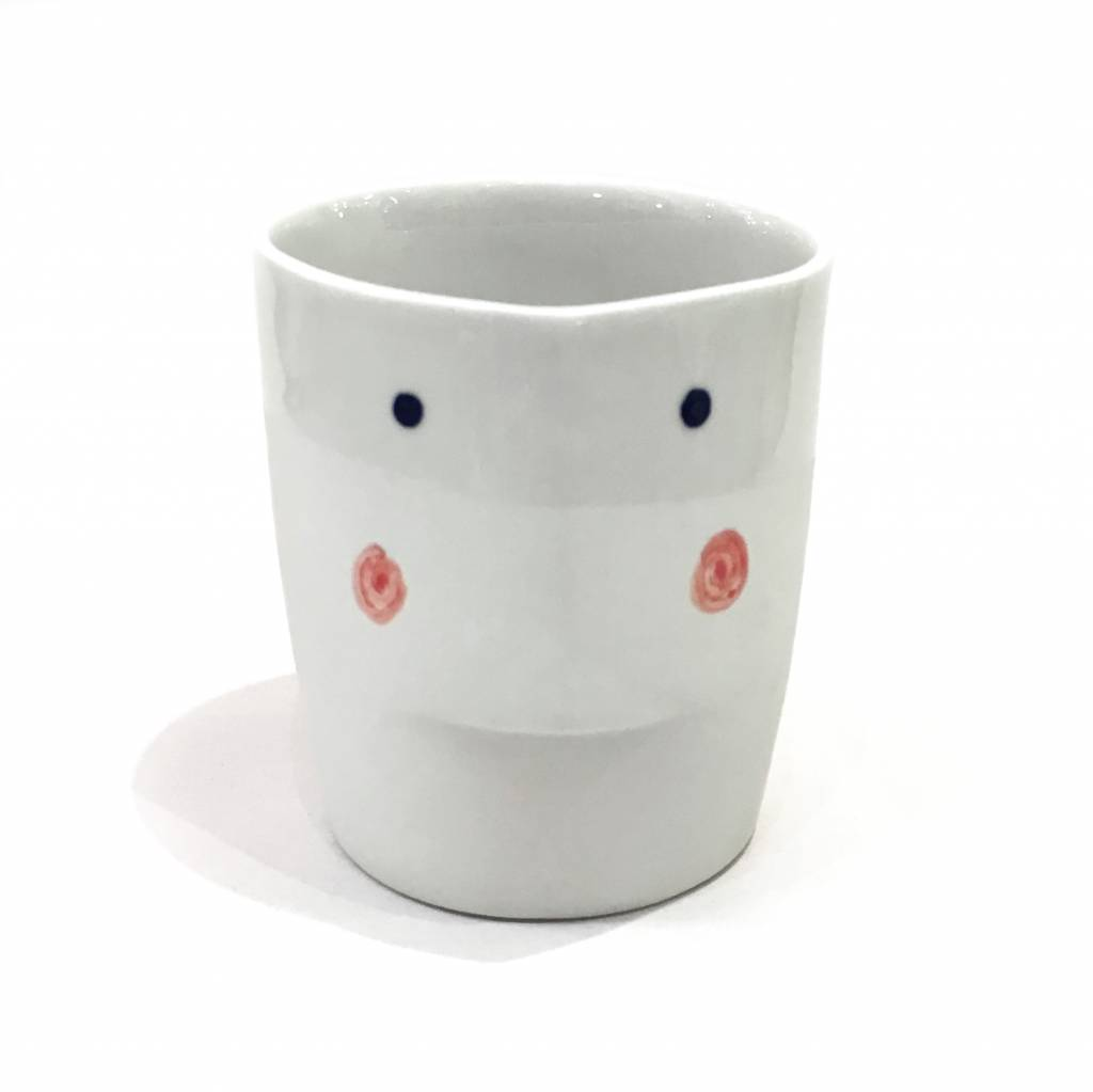 "Beker met gezicht ""Face Cup"" neutraal"