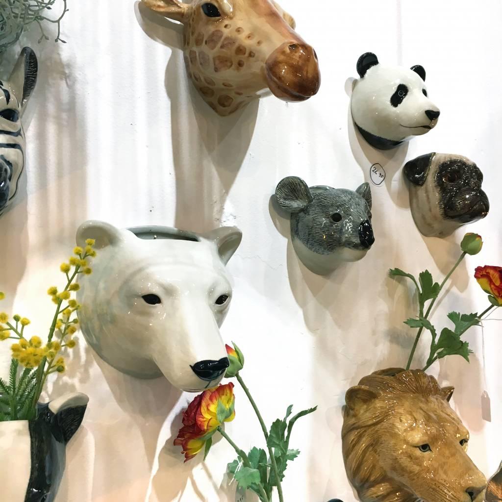 Ceramic panda wall vase