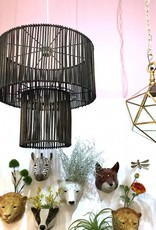 Donkerbruin rotan design hanglamp