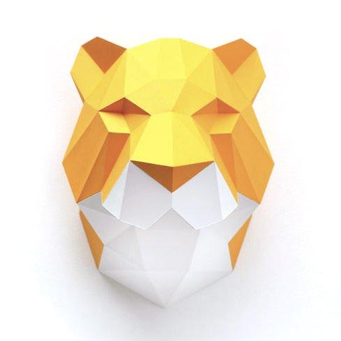 Paper diy tiger head
