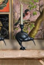 Zwarte kandelaar in de vorm van een kiwi vogel