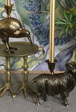 Brass kiwi bird candlestick