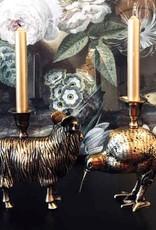 Brons kandelaar in de vorm van een ram