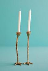 """Set van 2 gouden vogelpoot kandelaars """"Long Legs"""""""