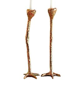 Candlestick Set / Long Legs / Gold