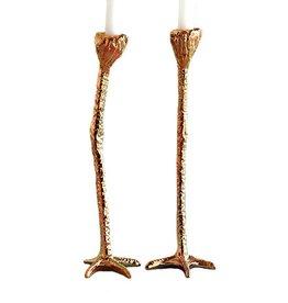 Candlestick Set / Long Legs / Gold