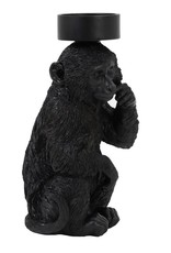 Black monkey candle holder