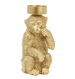 Candle Holder / Monkey / Goud