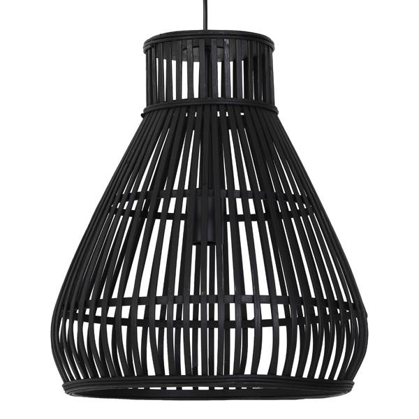 "Zwart rotan hanglamp ""Rinna"""