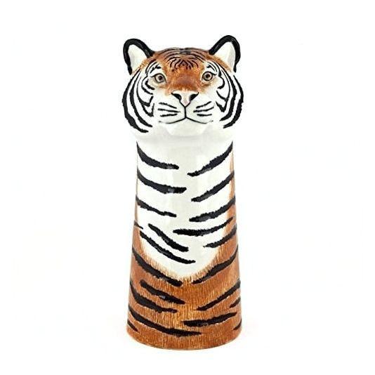 Ceramic tiger flower vase