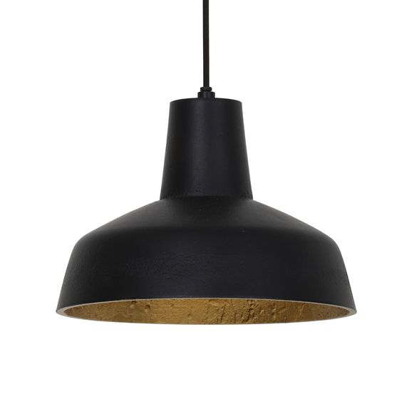 """Design hanglamp """"Mik"""" zwart met goud"""