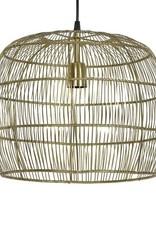 Design hanglamp van goud gehaakt metaal
