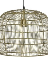 Knitted gold metal pendant light