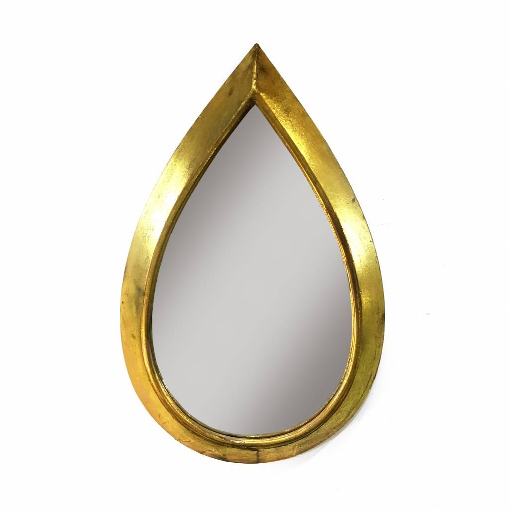 Druppelvormige spiegel in goud