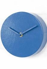 Modern design wall clock in blue