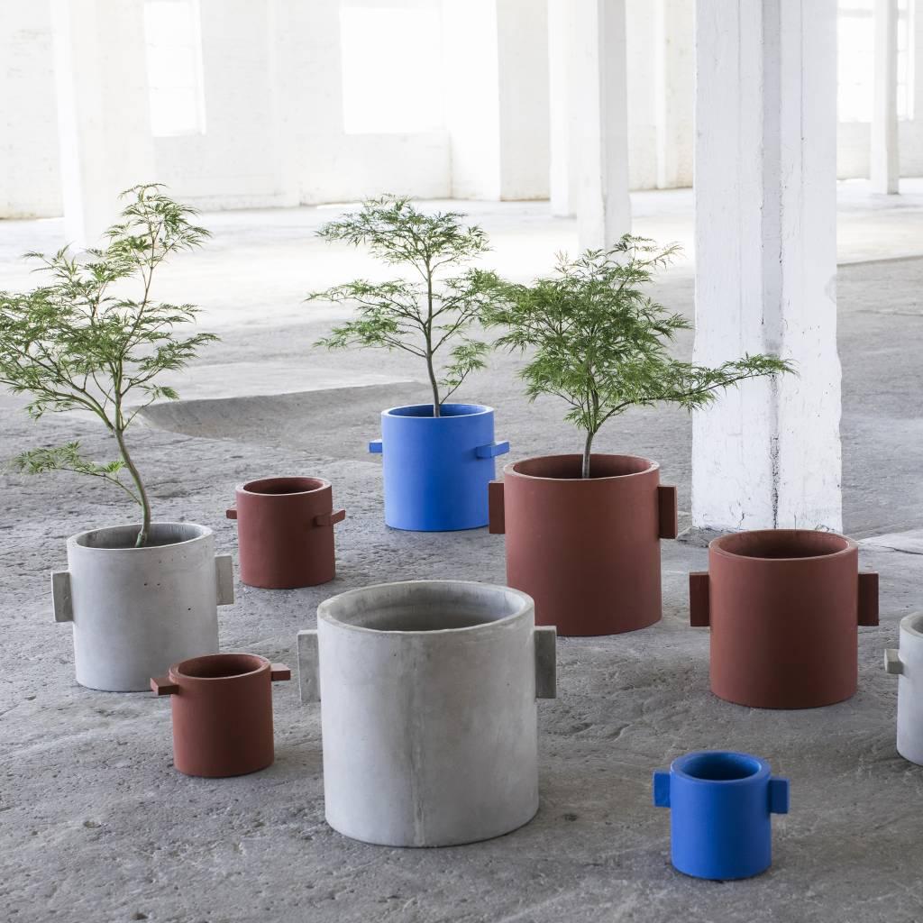 """Modern blue concrete design planter """"Kiko""""  15 cm"""