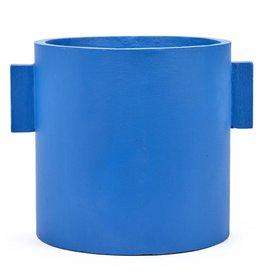 """Planter """"Kiko"""" blue 30 cm"""
