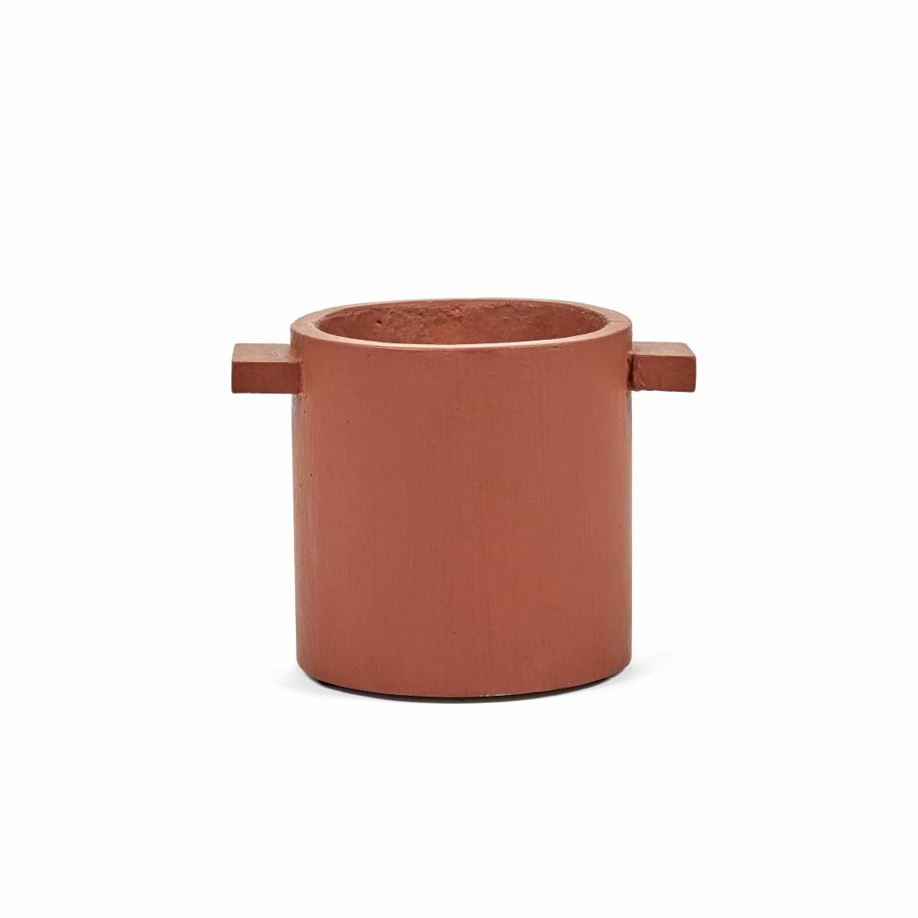 "Modern stone red concrete design planter ""Kiko""  15 cm"