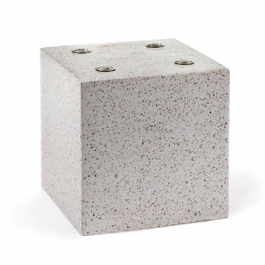 "Terrazzo design vaas ""Cube"""