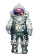 Aparte kersthanger van glas in de vorm van een astronaut