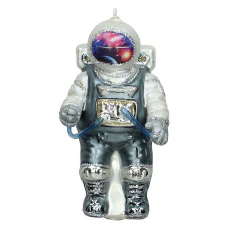 Quirky glass astronaut  christmas tree ornament