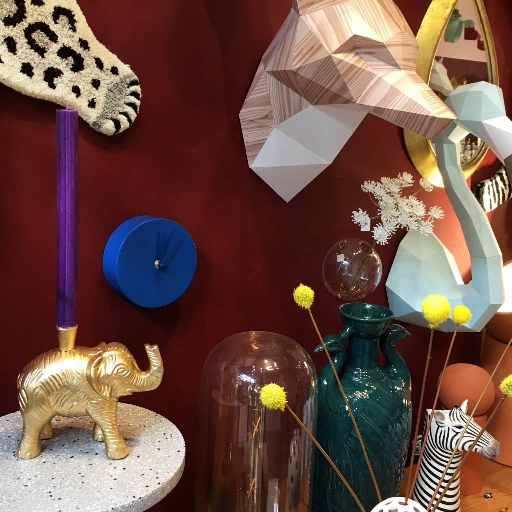 Matte gold elephant candlestick