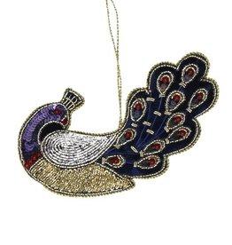 Velvet Christmas ormanent / Peacock