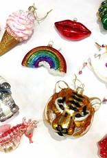 Aparte kersthanger van glas in de vorm van een aardbei