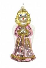 Aparte kersthanger van glas in de vorm van een engel