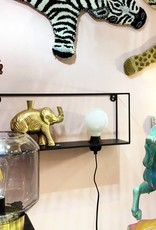 Wall shelve with lamp