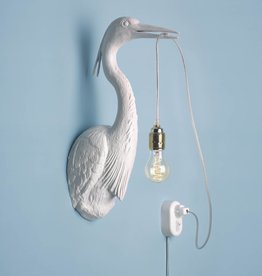 Bird wall light / White