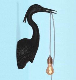 Vogel Wandlamp / Zwart