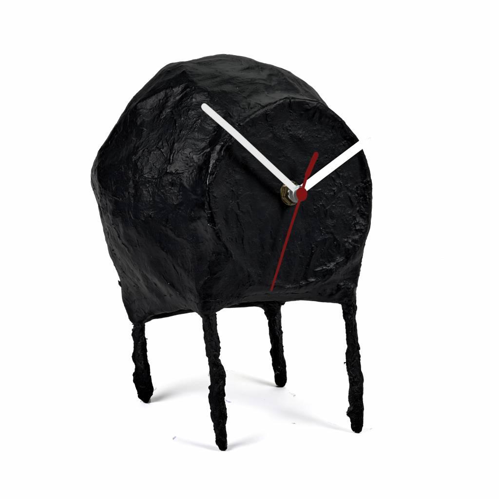 Black paper Pulp Clock