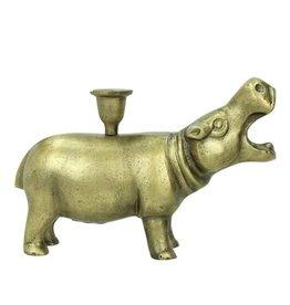 Nijlpaard kandelaar