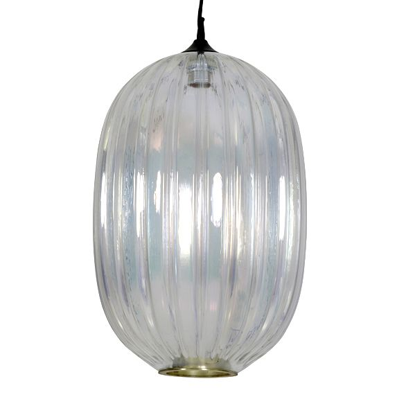 "Modern glass pendant light ""Parla"""