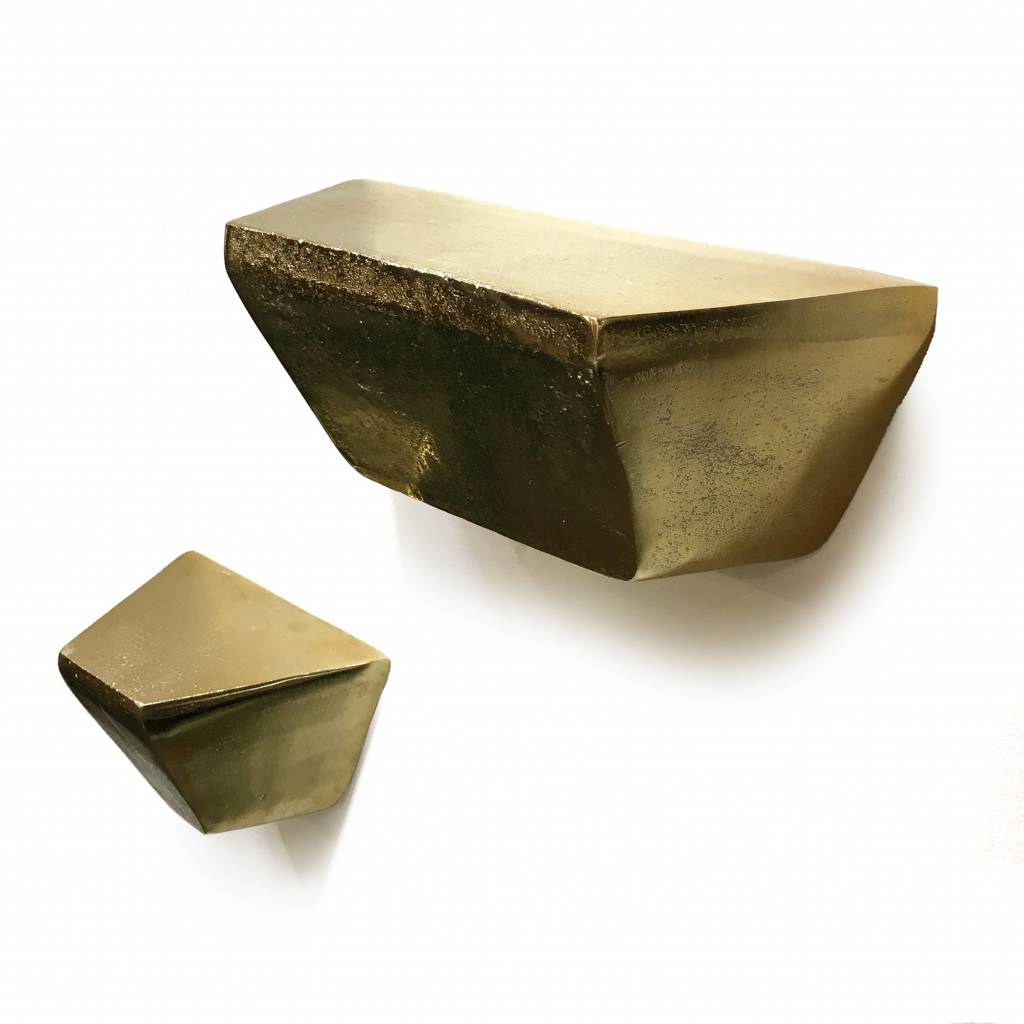 Modern design wall console in gold