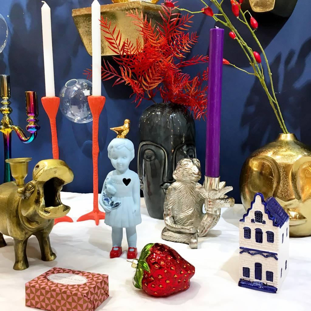 Lammers en Lammers pop met duif / Blauw