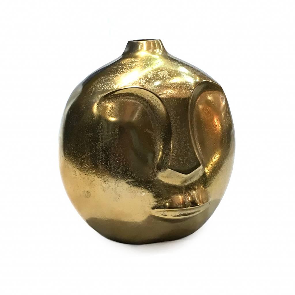Modern design head vase in gold finish