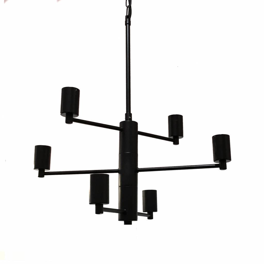 "Matte black modern design pendant light ""Ceza"""