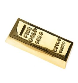 Gold bar money bank