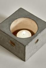 Design waxinelichthouder van beton