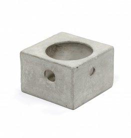Waxinelichthouder van beton