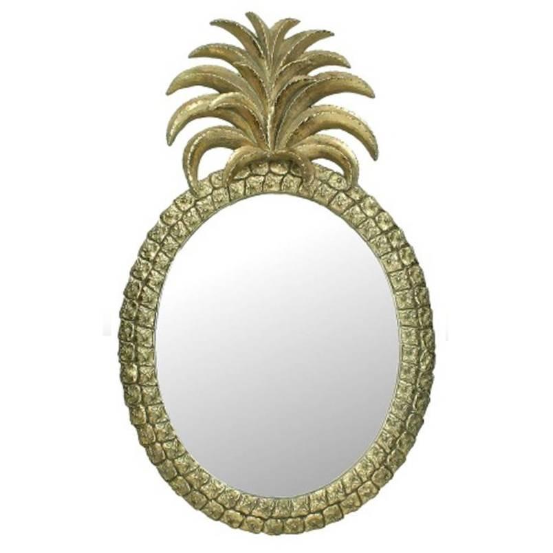 Goud spiegel in de vorm van een ananas