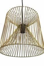 "Gold steel wire pendant light ""Rami"""
