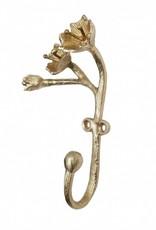 """Brass coat hook """"Blossom"""""""